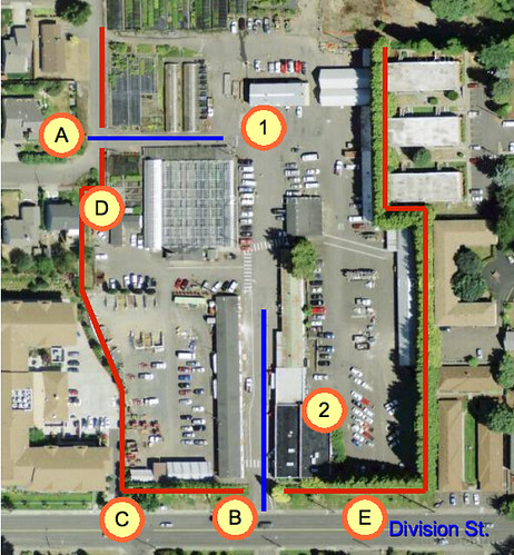 Map of Mt. Tabory Yard, highlighting vehicle issues