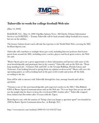 05.14.09 - TMCnet.com. (bustersports) Tags: rome college fan acc media state fark volunteers sportsillustrated gators seminoles duke auburn huskies arena gameday national longhorns tigers lions tailgate conference buster sucks rosebowl coed sec ncaa buckeyes bulldogs chapelhill unc rivals cbs trojans espn wolfpack sugarbowl bcs tarheels gamecocks wildcats wolverines orangebowl insider collegebasketball deacons jayhawks recruit fiestabowl cavaliers tipoff firestarter spartans sportscenter finalfour big10 big12 bigeast tommytuberville pac10 wfan studentsection davenathan danballard tmcnet bustersports