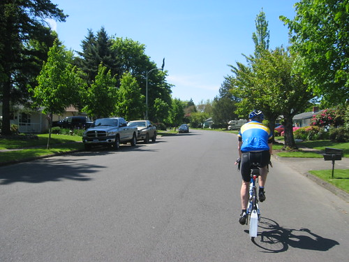 Riding through Beaverton