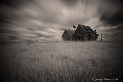 (ir guy) Tags: windmill canon ir photography ks oldhouse filter abandon infrared kansas homestead hoya littlehouseontheprairie longexposer r72 hoyar72filter jeremyholmes wwwirvisionscom