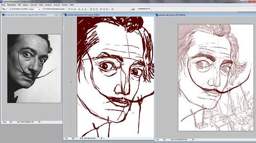 Salvador Dali, process