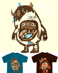 You Are What You Eat (WOTTO*) Tags: blue food orange brown cute illustration design cream adorable tshirt eaten browns illustrator monsters threadless beasts beasties detailed tees littleoldlady wotto