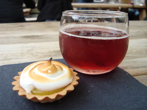 Lemon Meringue Tartlet & Brown Ale/Cherry Lambic @ Sinfully Sweet Sunday @ Verdugo Bar