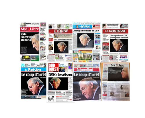 Dominique Strauss-Kahn (DSK) : unes de journaux
