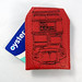 Leather London Bus Oyster Card Holder