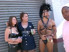 Mohawk Man & Co. (panavatar) Tags: leather costume vinyl bondage thong mohawk straps folsomstreetfair headdress waistcincher