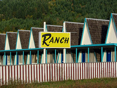 Ranch Motel (Vintage Roadside) Tags: oregon lodging motel roadtrip aframe momandpop ricehill ranchmotel vintageroadside roadsideoregon