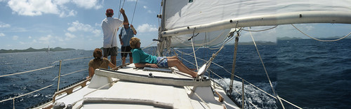 Sailing in the Virgin's Cup near Tortola, The British Virgin Islands