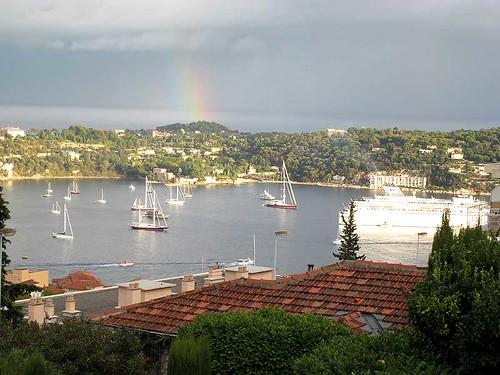 Rainbow over Villefranche sur Mer