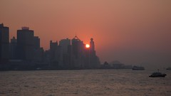Hong Kong - Stunning Sunset (cnmark) Tags: china sunset orange color ferry geotagged hongkong star pier gorgeous terminal hong kong stunning  macau wan  tsimshatsui tak shun sheung allrightsreserved geo:lon=11416849 geo:lat=22294273