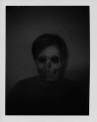 I can see right through you! (~KIM~) Tags: bw de polaroid skull doubleexposure steve diadelosmuertos 100 automatic100 auto100