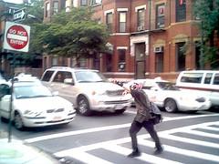 Zombie Crossing (lowest-fi) Tags: boston zombie newburystreet undead crosswalk zombiemarch