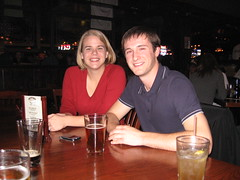rachael and mike (jkenning) Tags: thanksgiving plaza beer bar stlouis mikes westport saloon 2007 trainwreck rachaelb
