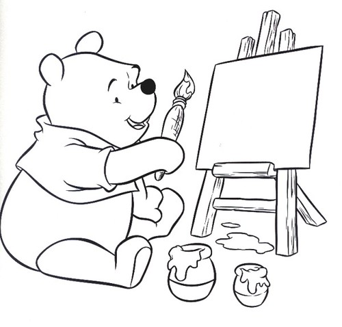 coloring page with Pooh