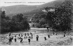 Au début du siècle, les conscrtis dans les eaux peu profondes