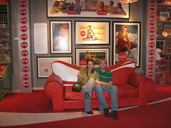 in the coke room (jkenning) Tags: atlanta cocacola worldofcoke 2007 cokemuseum gregoryw jkenning