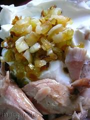 mascarpone, ventresca y cebolleta