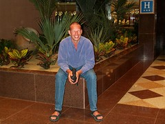 Steve casually dressed for dinner :-( (campfullmonte) Tags: hotel spain honeymoon resort lobby naturist safe veraplaya