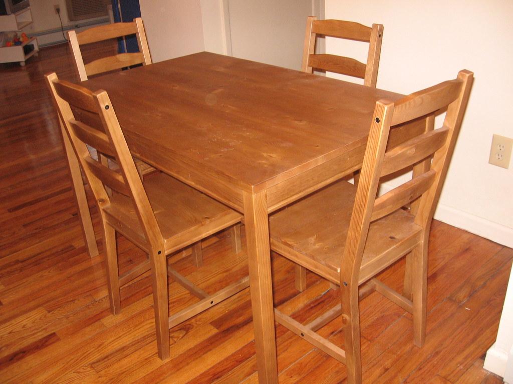 IKEA Jokkmokk wooden table with 4 chairs - I