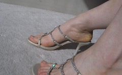 Crystal Sandals xiii (Ethereal Goddess) Tags: woman feet beautiful fetish foot shoe shoes worship toes legs sandals bare femme goddess heels mistress calf domme ankles strappy