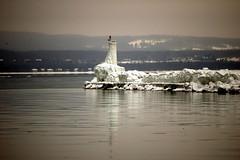 breakwater (snapstill studio) Tags: snow cold ice pier michigan lakemichigan beacon breakwater petoskey