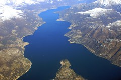 WONDERFUL AERIAL OF COMO LAKE