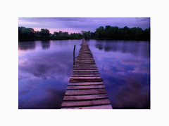 The Long Wooden Bridge (Jollence Lee) Tags: mountain print poster landscape malaysia borneo buy sell sabah fineprint