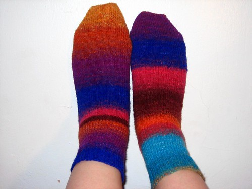 Noro Socks American Apparel Pose