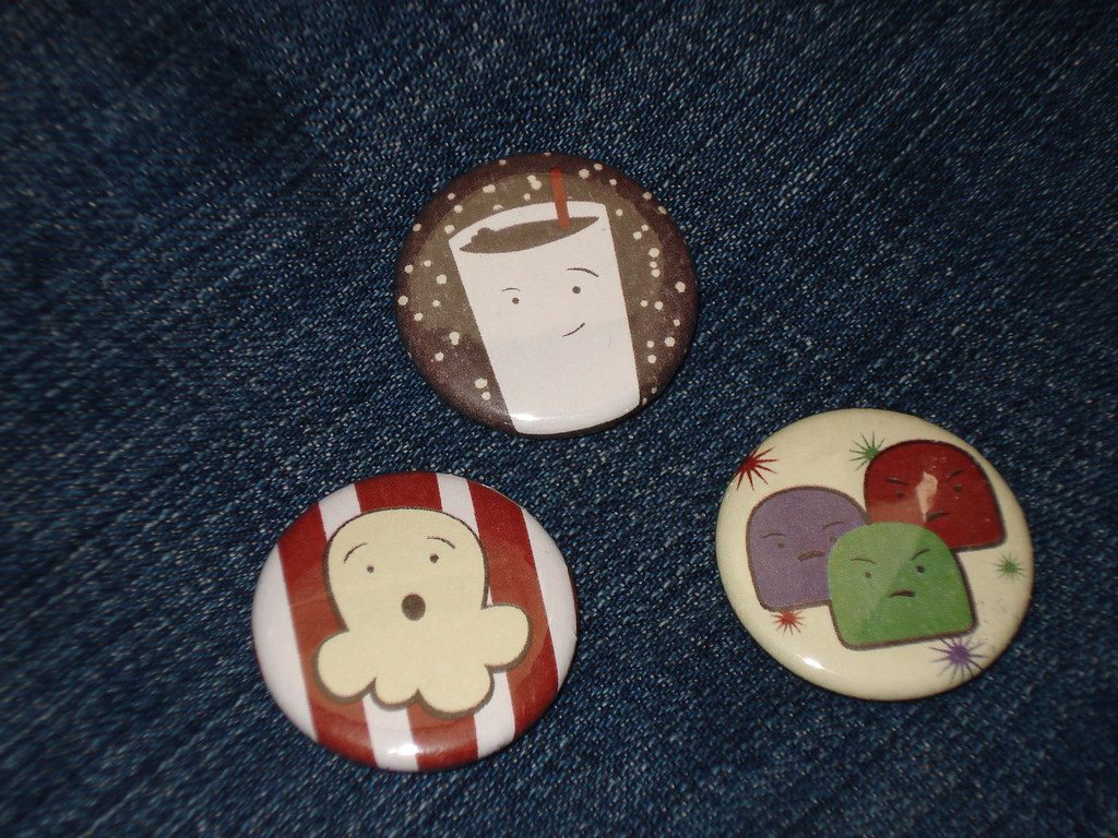 Cinema Snackers Buttons