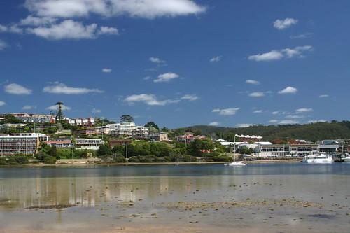 Merimbula River and town. NSW.