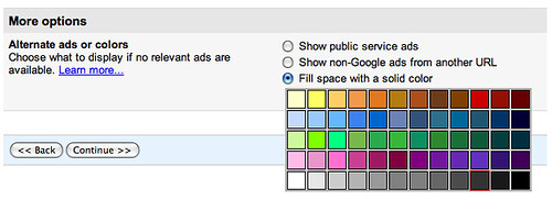 Google AdSense Color Option Issue