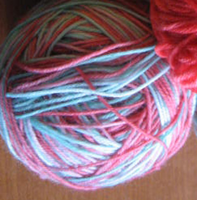 kool aid dyed sock yarn
