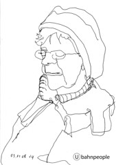 Ubahnpeople U080109 (Hannes Grblacher) Tags: vienna portrait subway sketch ubahn sketches subwaysketch subwaysketches ubahnpeople