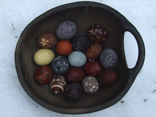dark colored eggs