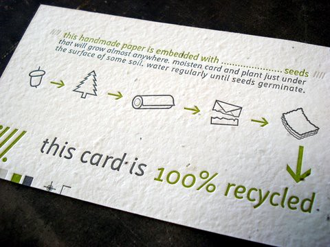 plantable seed paper promo card