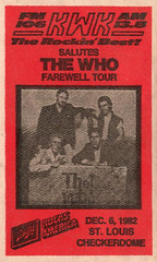 The Who 1982 Farewell Tour St. Louis (gregg_koenig) Tags: st louis who schlitz the kwk checkerdome