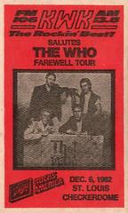 The Who 1982 Farewell Tour St. Louis (gregg_koenig) Tags: st louis who schlitz the kwk checkerdome