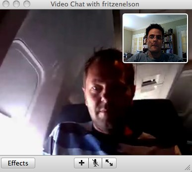 Video AIM with Fritz on a flight to NYC
