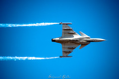 SAAB in Action (SabyasachiBaldev) Tags: aero india saab 2017 action war airplane aircraft military airforce precision jet symmetry vehicle fly technology speed smoke navy air flight sky fighter warfare skills saabindia saabag raw sports nikonindiaofficial photooftheday