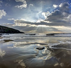 Set me free (pauldunn52) Tags: southerndown dunraven beach glamorgan heritage coast wales wet sand reflections sunburst clouds cliffs witches point
