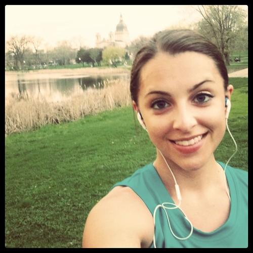 Running in Loring Park