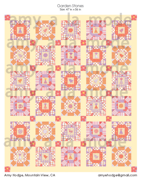 Not So Very Contrary Quilt MockUp