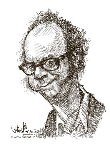 digital sketch of Paul Giamatti
