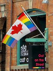 Church and Wellesley (Maia C) Tags: toronto ontario canada flag gaypride churchstreet comment maiac churchandwellesley sonydschx1