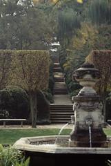 Dumbarton Oaks Gardens: Ellipse: Fountain: sou...