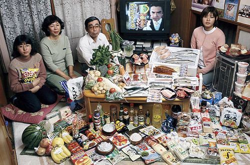 Japan - $317.25 a week for food