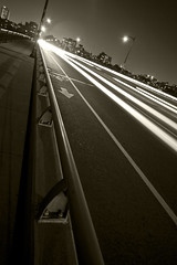 fast lane (richietown) Tags: road street city longexposure blackandwhite bw cars topf25 topv111 boston night canon lights topv555 topv333 massachusetts stock getty 30d bostonist sigma1020mm richietown bestof2007 addtoimagekind