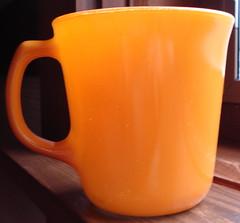 Corning Orange Coffee Mug (1980's) (merebearlandon) Tags: cup glass coffee vintage tea mug pyrex corning