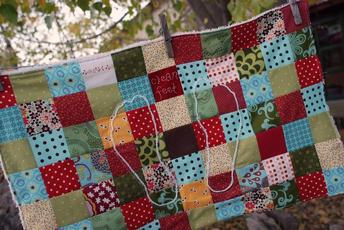 patchwork bath mat