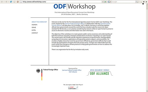 ODF Workshop and Adobe Flash
